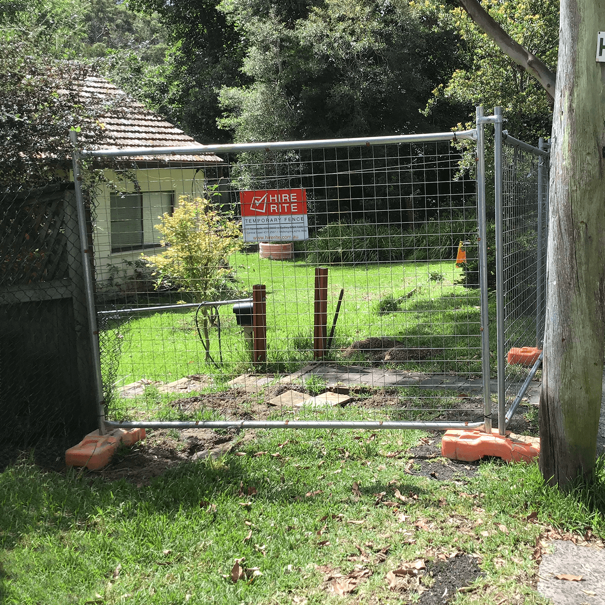 temporary fence for renovations